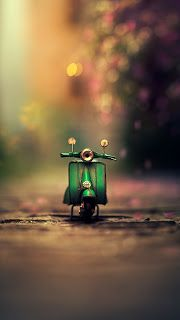 Scooter Mobile Hd Wallpaper Miniature Photography Creative