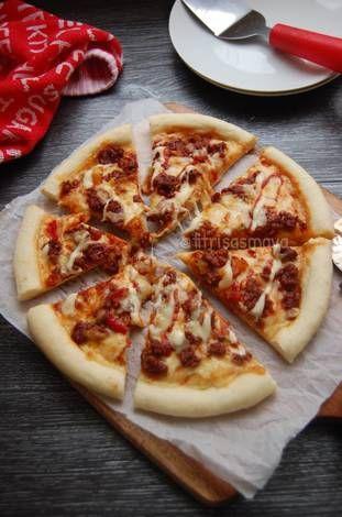 Resep Pizza Ulen 3 Menit Awet Empuknya Oleh Fitri Sasmaya Resep Makanan Resep Adonan