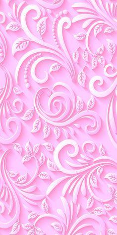 Pink Scroll Design