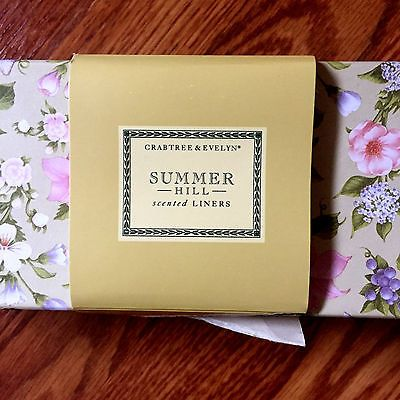Crabtree And Evelyn Summerhill Scented Drawer Liners 6 Sheets