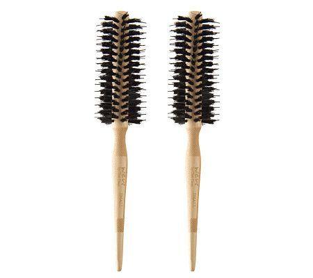 Wen By Chaz Dean Signature Boar Bristle Small Round Brush Duo Qvc Com Boar Bristle Hair Brush Hair Brush Set