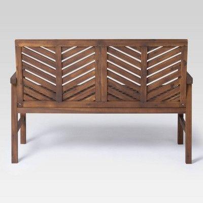Surprising 3Pc Chevron Outdoor Patio Loveseat Set Dark Brown Saracina Unemploymentrelief Wooden Chair Designs For Living Room Unemploymentrelieforg
