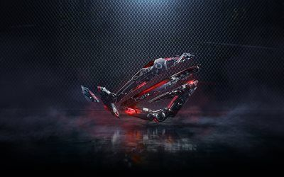Download Wallpapers Rog Robots Style 4k Republic Of Gamers
