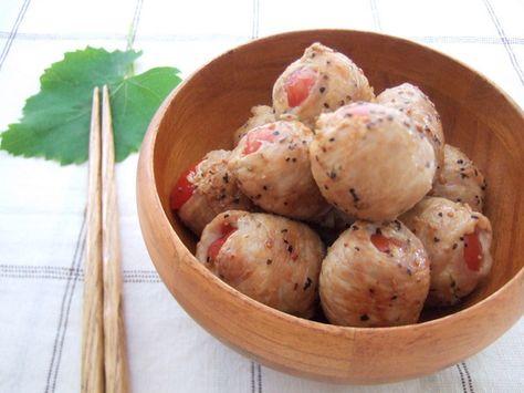 ミニトマトの肉巻きグリル