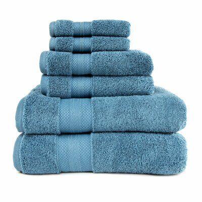 The Twillery Co Patric 6 Piece Turkish Cotton Bath Towel Set