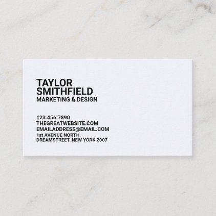 Minimal Modern Business Card Zazzle Com Modern Business Cards Business Cards Minimal Company Business Cards