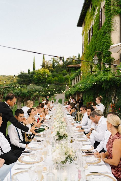 Vogue Featured Wedding : This Wedding at Lake Garda in Italy Was Inspired by Artist Cy Twombly. This dinner tablescape is everything Italian and the most romantic setting for a 5 course meal. Wedding Weekend, Dream Wedding, French Wedding, Lake Garda Wedding, Lake Garda Italy, Outdoor Dinner Parties, Italian Lakes, Cy Twombly, Italy Wedding