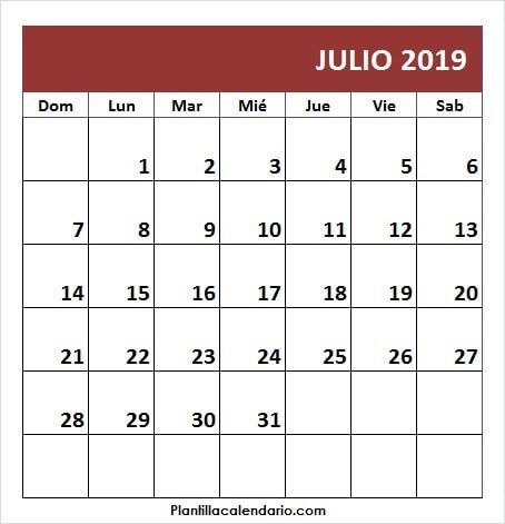 Calendario Julio 2019 Peru.Pin On July 2019 Calendar