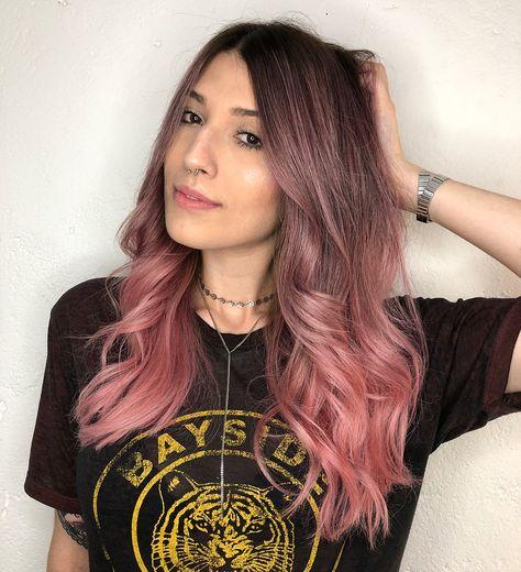 Dip Dye Hair, Dyed Hair, Cabelo Ombre Hair, Ombré Hair, Curly Pink Hair, Honey Blonde Hair, Ombre Hair Color, Pastel Pink Ombre Hair, Ombre Rose