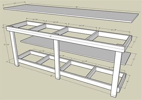 Image result for work table Craft Space Pinterest – Plans For Building A Workbench In A Garage