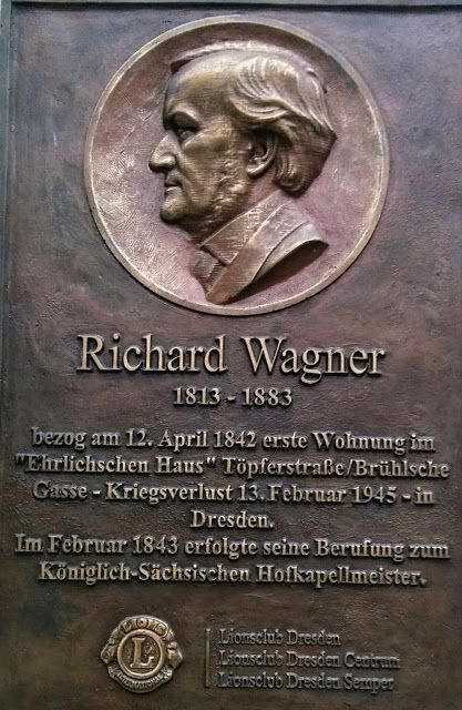 Munich Et La Baviere Louis Ii Et Richard Wagner Plaque Commemorative Richard Wagner A Dresde Dresde Plaque Commemorative Baviere