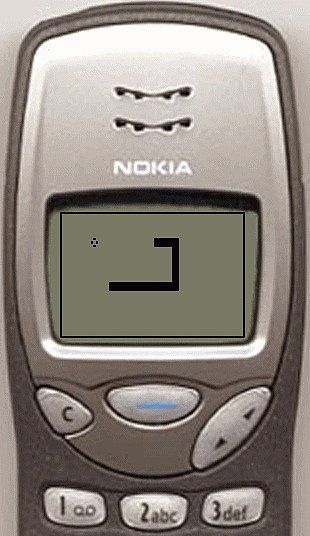 Snake on Nokia.I remember playing this on my Nokia