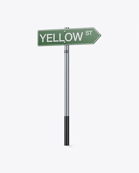 Matte Street Sign Mockup Half Side View In Object Mockups On Yellow Images Object Mockups Sign Mockup Mockup Free Psd Mockup Free Download