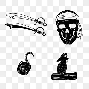Hand Drawn Knife Black Skull Hook Skull Parrot Png Transparent Clipart Image And Psd File For Free Download In 2021 Skull Sketch Black Background Design How To Draw Hands