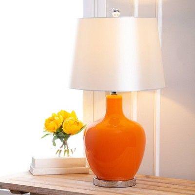 Chloe Glass Table Lamp Orange Abbyson In 2021 Table Lamp Glass Accent Tables Glass Table