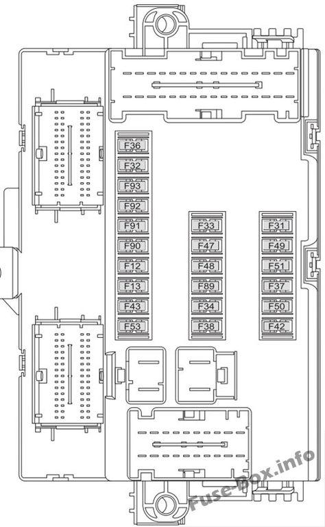 Instrument panel fuse box diagram: Fiat Ducato (2015, 2016