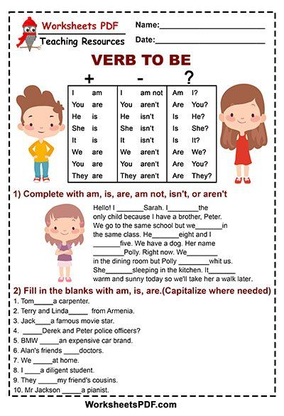 Am Is Are Grammar Free Printables English Lessons For Kids