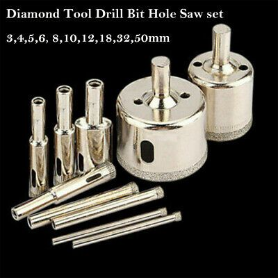 Sponsored Ebay 10pc 3 50mm Diamond Tool Drill Bit Hole Saw Set Glass Ceramic Marble Tile Tools Glass Ceramic Marble Tile Tile Tools