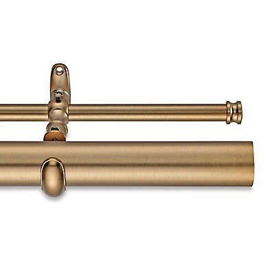 Cambria Estate Double Curtain Rod In Warm Gold Double Rod