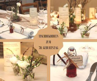 Tischdekoration Zum 70 Geburtstag Tischdeko Geburtstag Basteln