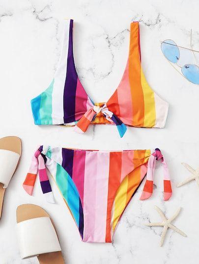 Damenmode Push Up Top Neckholder Bikini Mit 15