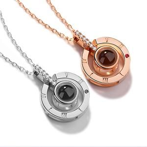Pendentif Je T Aime En 100 Langues Comes In Sterling Silver Or Rose Gold Love Necklace Diamond Solitaire Necklace Jewelry