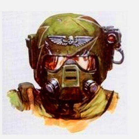 Imperial Guard - Warhammer 40k - Astra Militarum - Cadian Shock Troops - Helmet