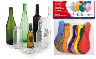 Aprende Cómo Decorar Botellas Con Globos De Cumpleaños Mimundomanual Centros De Mesa Botellas Botellas De Vidrio Decorar Botellas De Cristal