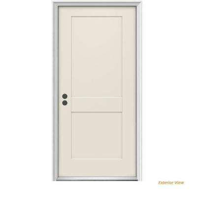 32 In X 80 In 2 Panel Craftsman Primed Right Hand Inswing Steel Craftsman Prehung Front Door Steel Front Door Steel Doors Tall Cabinet Storage