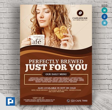Coffee Shop Flyer - PSDPixel