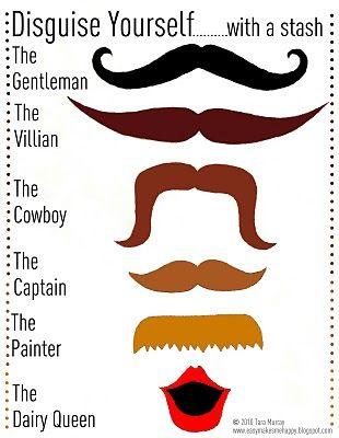 Haha...mustache anyone?