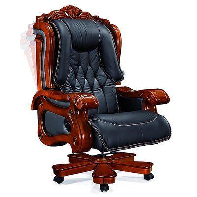 Astoria Grand Timko Genuine Leather Executive Chair Wayfair In