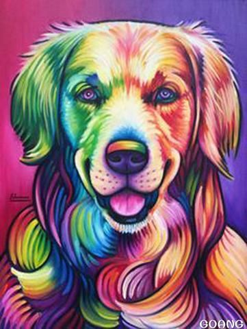 Rainbow Dogs In 2020 Dog Paintings Cross Paintings Rainbow Dog