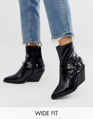 ASOS DESIGN Wide Fit Ritchie western