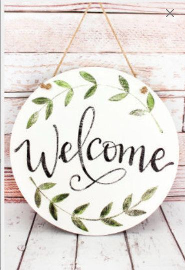 Welcome Door And Wall Sign Wooden Welcome Sign Door Decor Wedding Hanger Farmhouse Decor Gift Welcome Signs Front Door Wooden Door Signs Door Hangers Diy