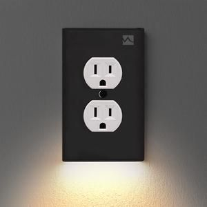 Outlet Wall Plate With Led Night Lights No Batteries Or Wires Ul Fcc Waywoop In 2020 Led Night Light Plates On Wall Night Light