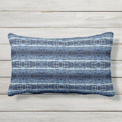 Abstract Brush Strokes Blue Outdoor Lumbar Pillow Zazzle Com In 2020 Blue Outdoor Pillows Outdoor Pillows Pillows