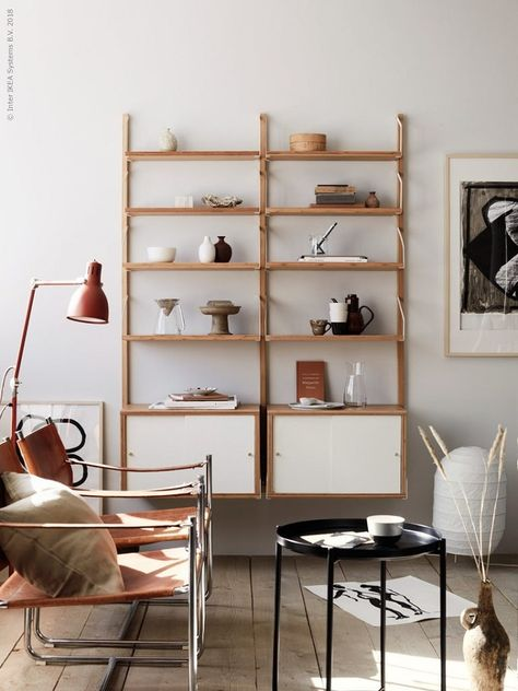 Bamboo Shelf Ikea Furniture, Lamp With Shelf Ikea