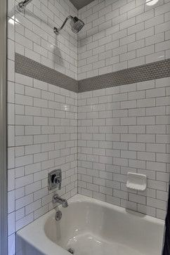 This is our subway tile with medium grout. The