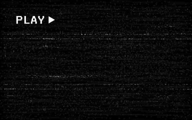 Glitch Vhs Effect Old Camera Template White Horizontal Lines On Black Background Video Rewind Texture No Signal Concept Old Camera Glitch Black Backgrounds