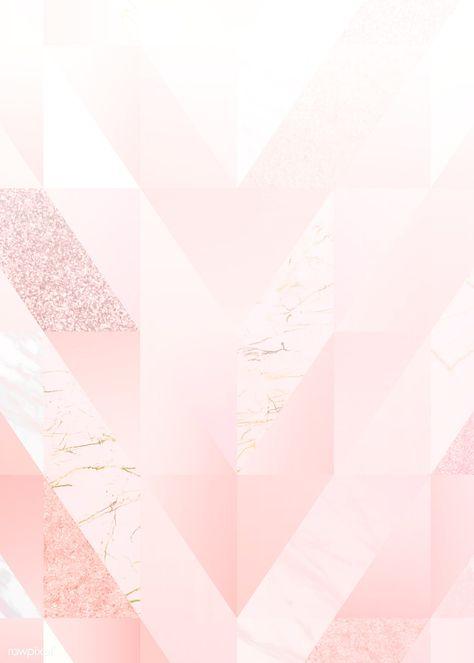 Pink feminine geometric background vector   free image by rawpixel.com / Niwat