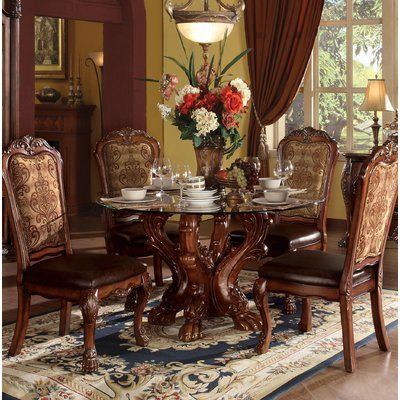 Astoria Grand Welliver Dining Table Wayfair In 2020 Round Dining Room Sets Formal Dining Room Sets Round Dining Table Sets