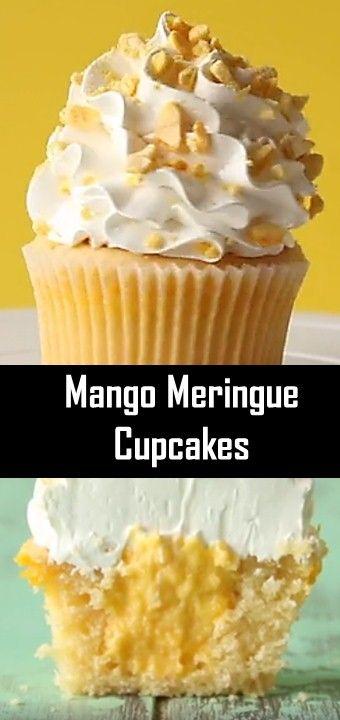 Mango Meringue Cupcakes Chocolate Recipes Chocolate Dessert Recipes Chocolate Desserts Cake
