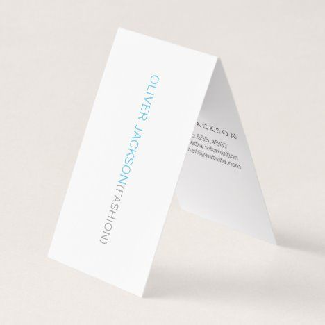 Simple Professional Blue Business Card Professional Modern Trendy In 2020 Blue Business Card Folded Business Cards Modern Business Cards