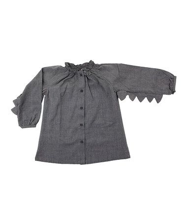 Detachable Crow Wing Button-Up