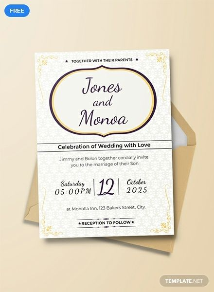 Free Floral Wedding Invitation Template Word Doc Psd Indesign Apple Mac Pages Publisher Invitation Templates Word Free Wedding Invitation Templates Wedding Invitation Templates