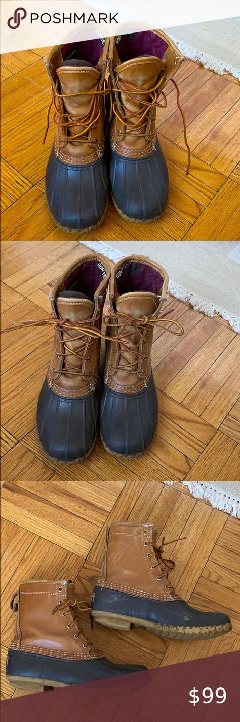 """L.L.Bean beanboots w thinsulate and shearling sole 8"""" Bean boots with gore-tex thinsulate lining and shearling sole L.L. Bean Shoes Winter & Rain Boots"""