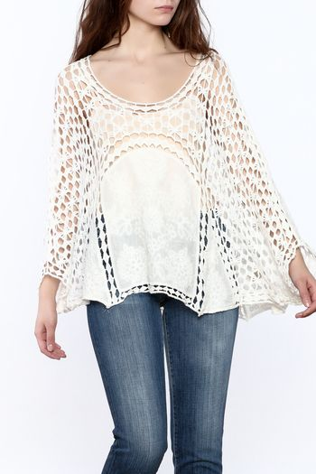 46$  Watch here - http://viqip.justgood.pw/vig/item.php?t=i569p6h33600 - White Crochet Popover Top 46$