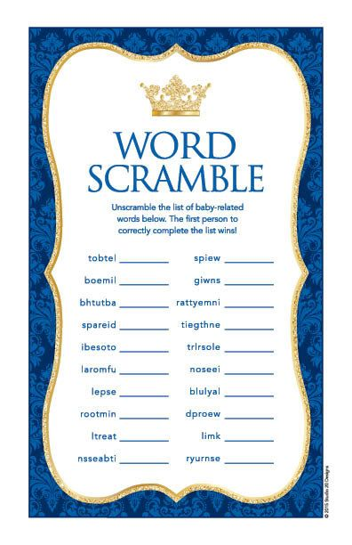 Instant Download Royal Blue Prince Baby Word by Studio20Designs - baby shower templates for word
