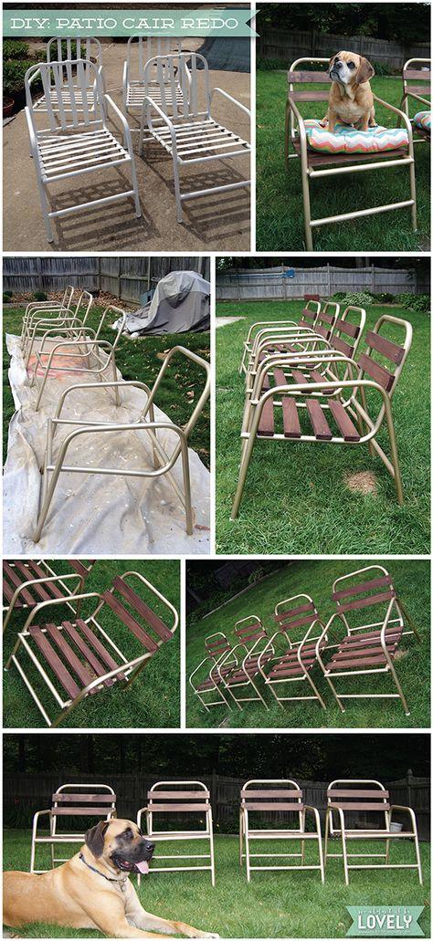patio chair redo!